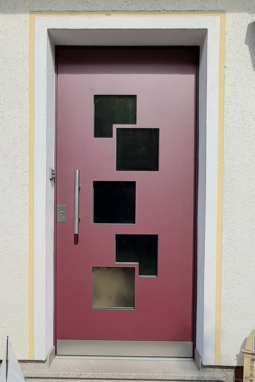 Aluminium Haustüre in Ottensoos, Schreinerei Ultsch